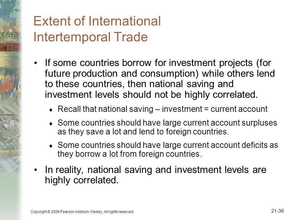Extent of International Intertemporal Trade