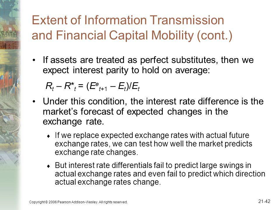 Extent of Information Transmission and Financial Capital Mobility (cont.)