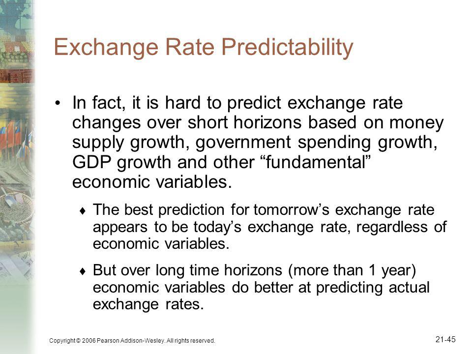 Exchange Rate Predictability