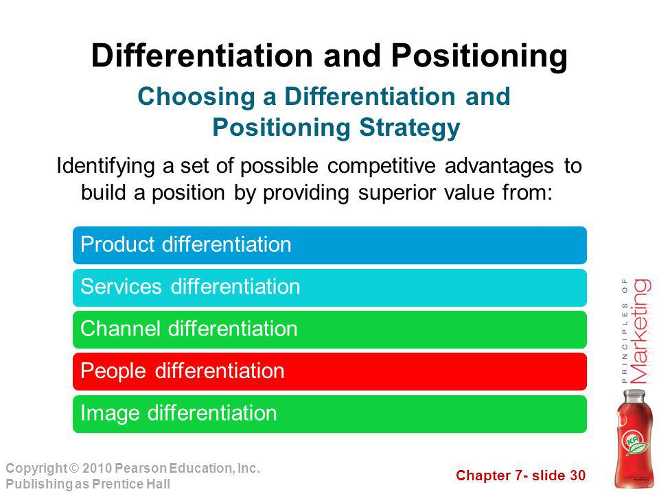 positioning and differentiation strategies marketing essay Segmentation, targeting and positioning this essay will illustrate the extent to which effective marketing must incorporate segmentation, targeting and positioning.