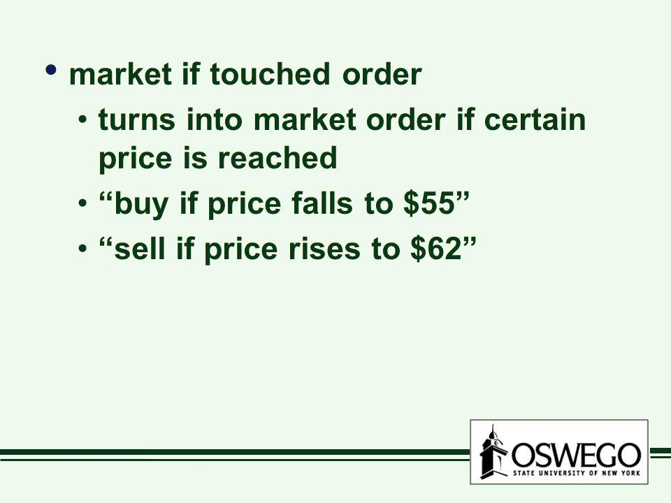 market if touched order