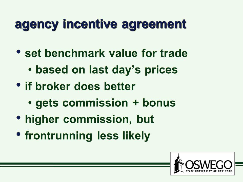 agency incentive agreement