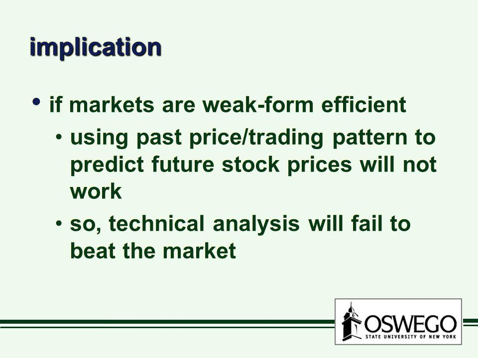 implication if markets are weak-form efficient