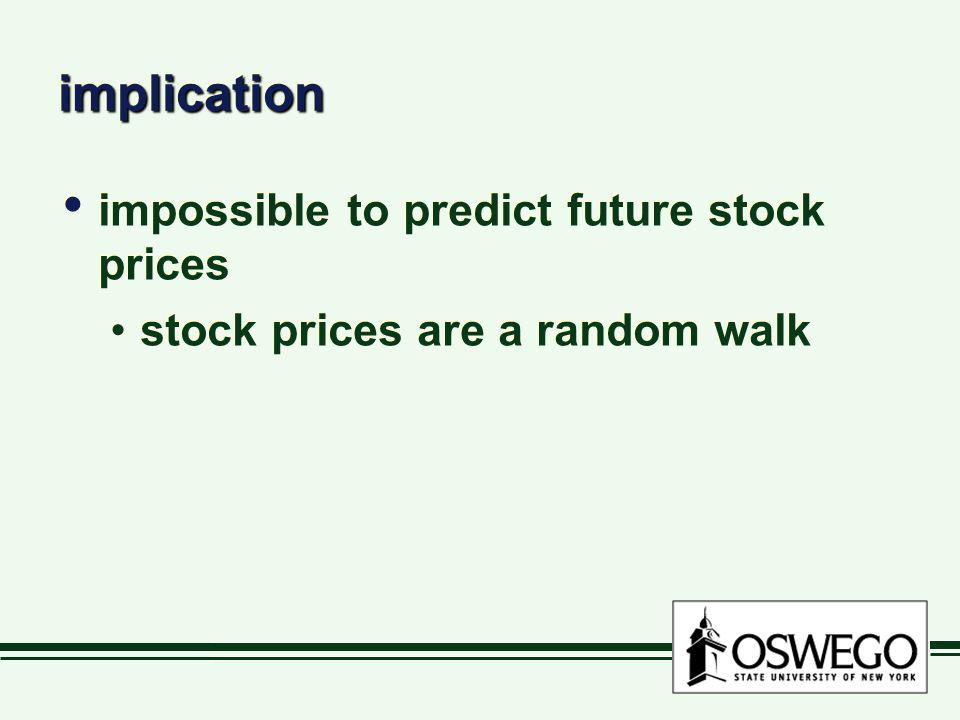 implication impossible to predict future stock prices