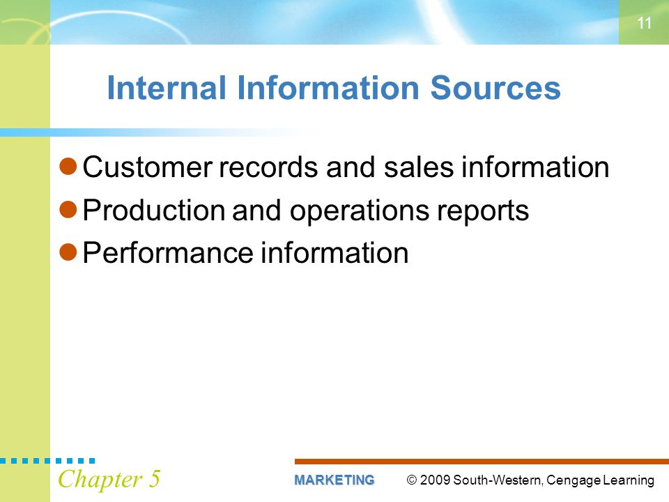 Internal Information Sources