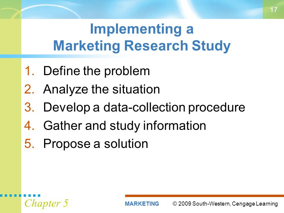 Implementing a Marketing Research Study