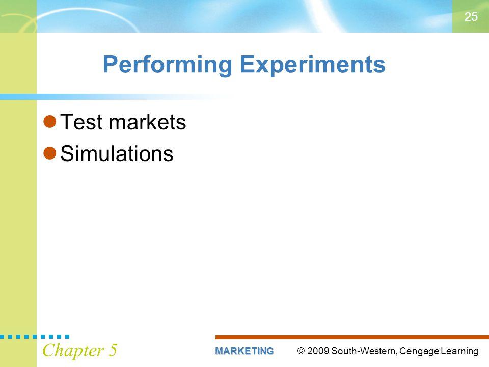 Performing Experiments