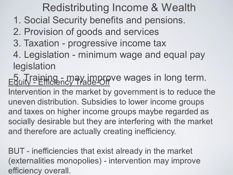 Redistributing Income & Wealth