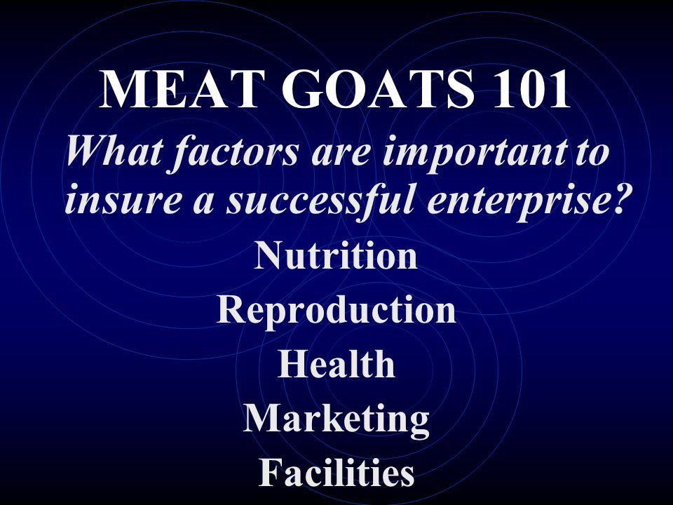 What factors are important to insure a successful enterprise