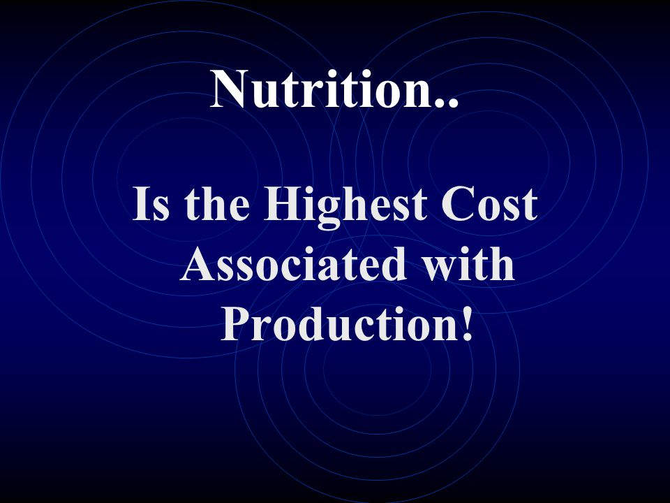 Is the Highest Cost Associated with Production!