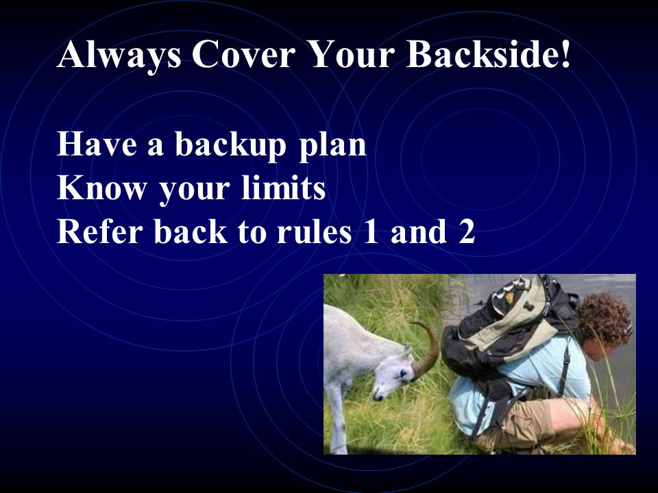 Always Cover Your Backside