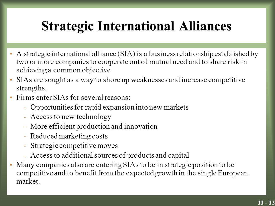 Strategic International Alliances