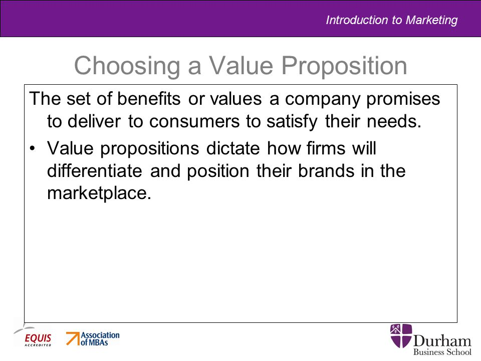 Choosing a Value Proposition
