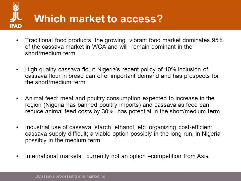 Which market to access