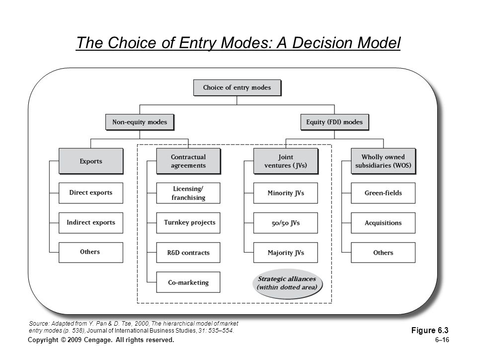 The Choice of Entry Modes: A Decision Model