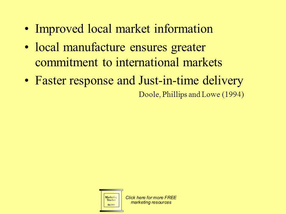 Improved local market information