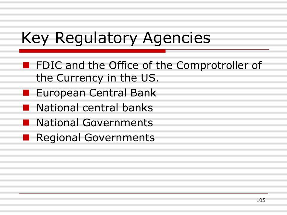 Key Regulatory Agencies