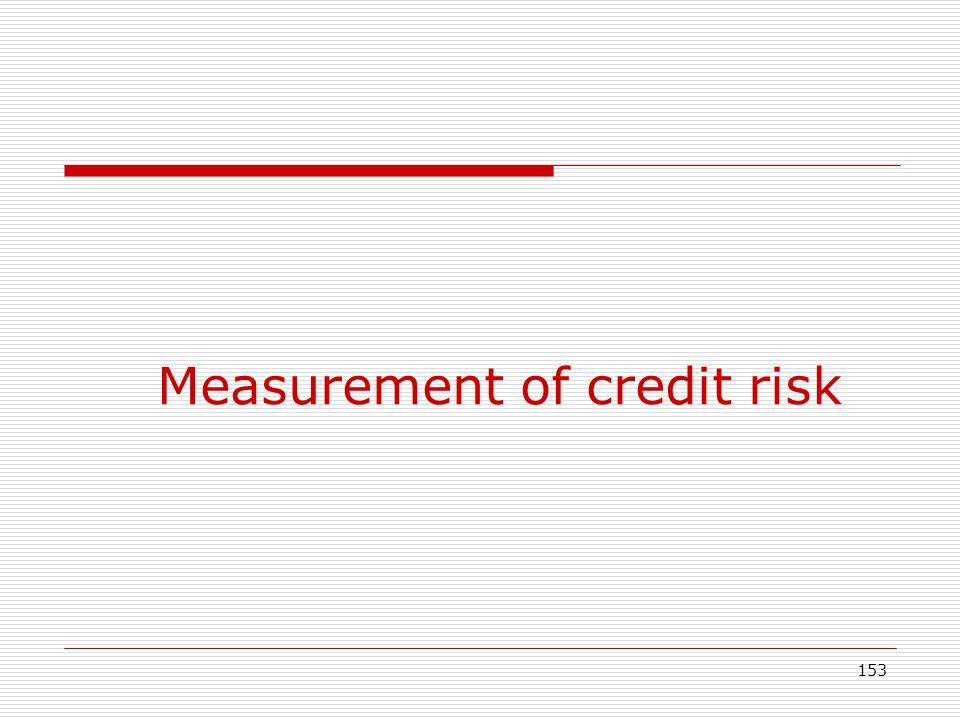 Measurement of credit risk