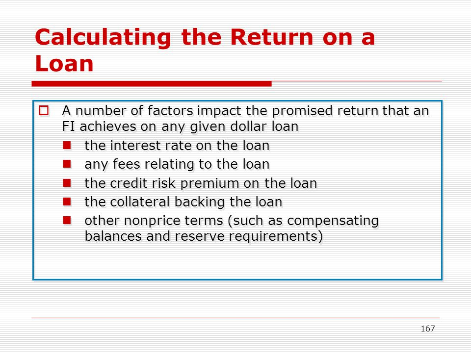 Calculating the Return on a Loan