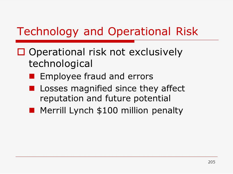 Technology and Operational Risk