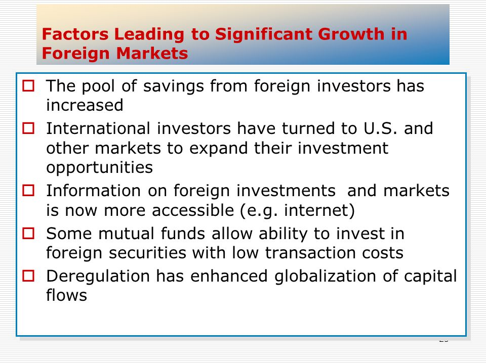 Factors Leading to Significant Growth in Foreign Markets