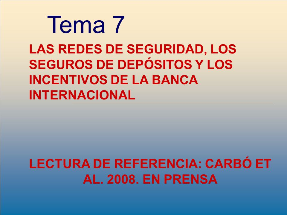 LECTURA DE REFERENCIA: CARBÓ ET AL. 2008. EN PRENSA