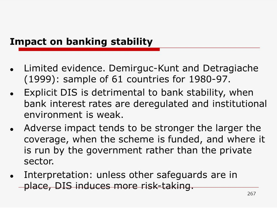 Impact on banking stability
