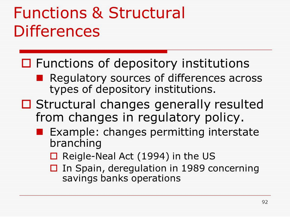 Functions & Structural Differences