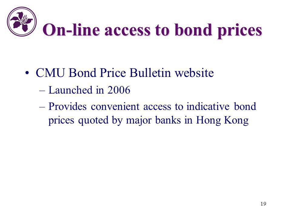 On-line access to bond prices