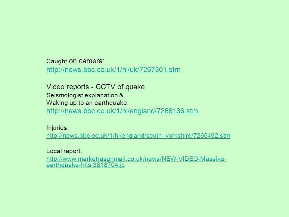 Video reports - CCTV of quake
