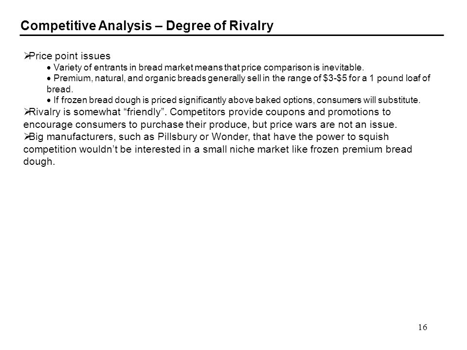 Competitive Analysis – Degree of Rivalry