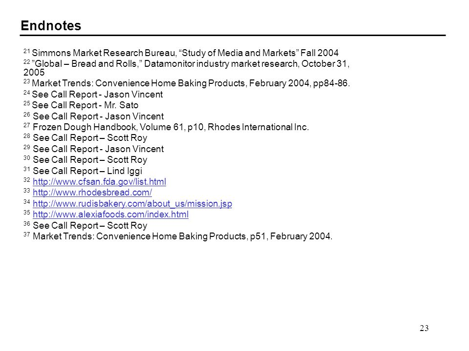 Endnotes 21 Simmons Market Research Bureau, Study of Media and Markets Fall 2004.