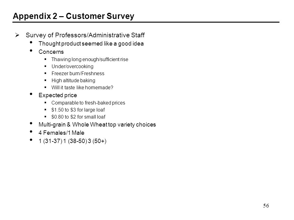 Appendix 2 – Customer Survey
