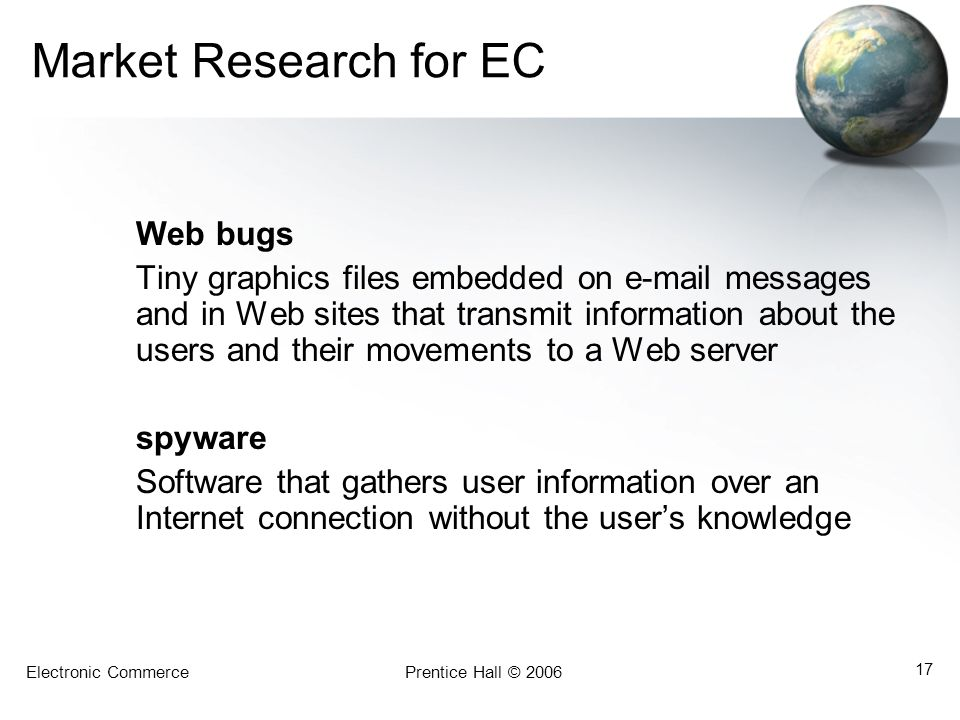 Market Research for EC Web bugs