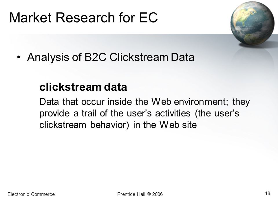 Market Research for EC Analysis of B2C Clickstream Data