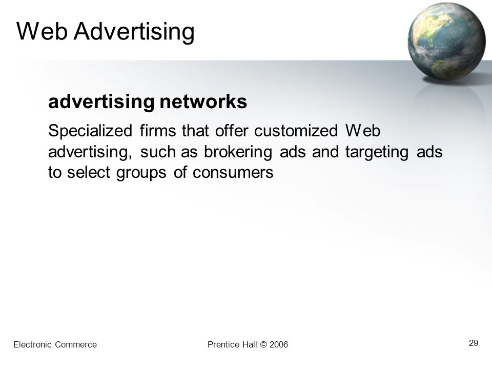 Web Advertising advertising networks