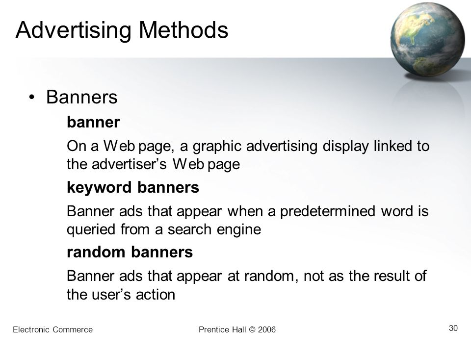 Advertising Methods Banners banner