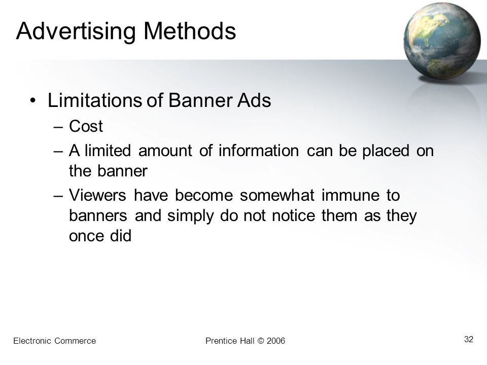 Advertising Methods Limitations of Banner Ads Cost