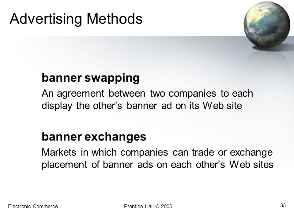 Advertising Methods banner swapping
