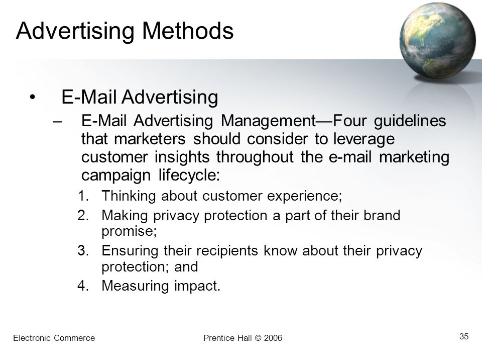 Advertising Methods  Advertising