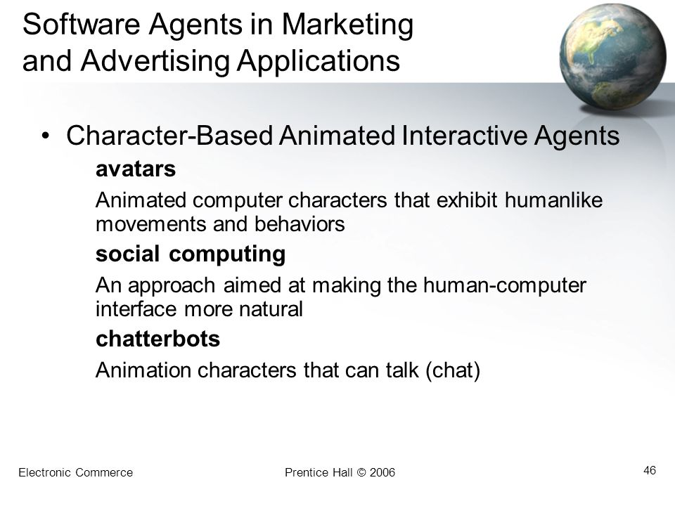 Software Agents in Marketing and Advertising Applications