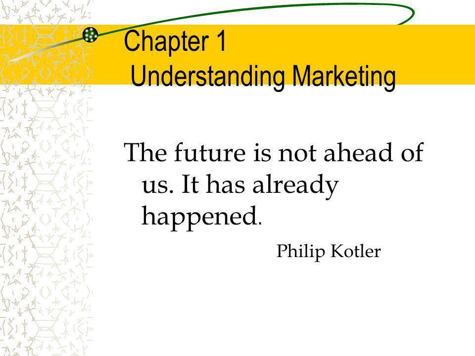 Chapter 1 Understanding Marketing