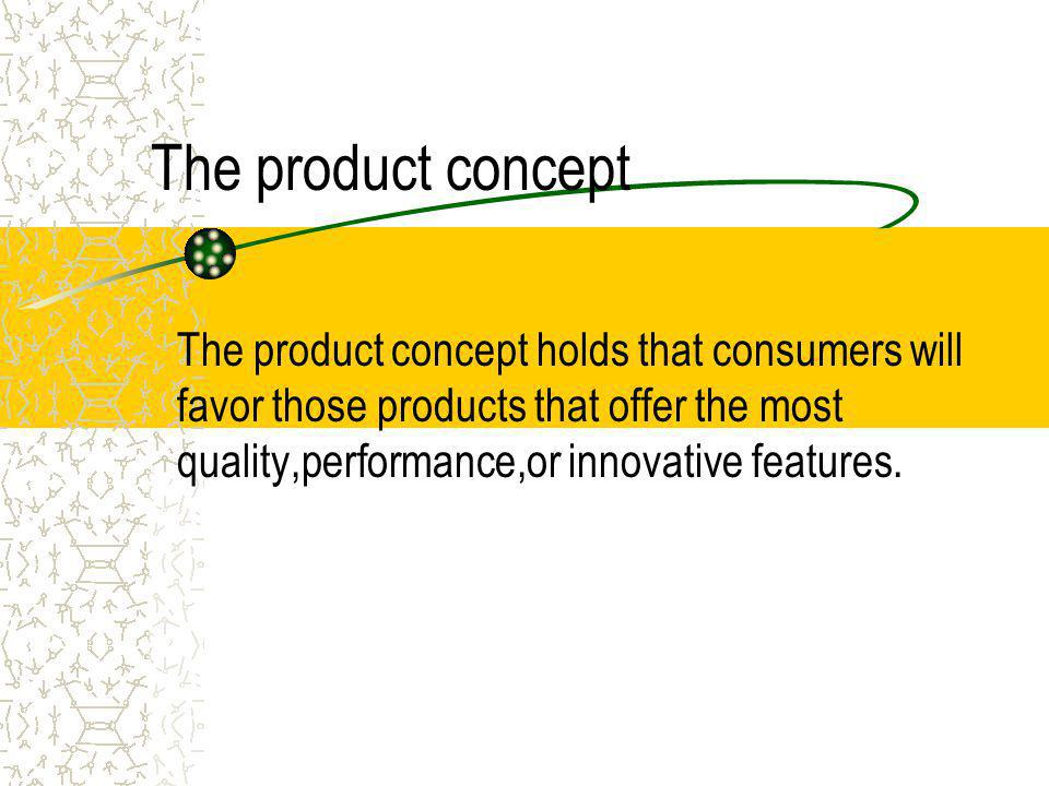 The product concept