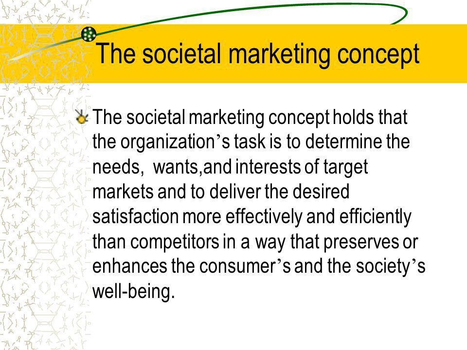 The societal marketing concept