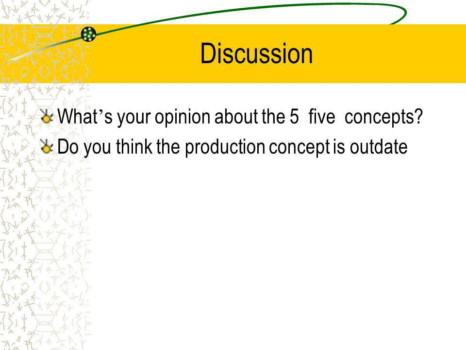 Discussion What's your opinion about the 5 five concepts