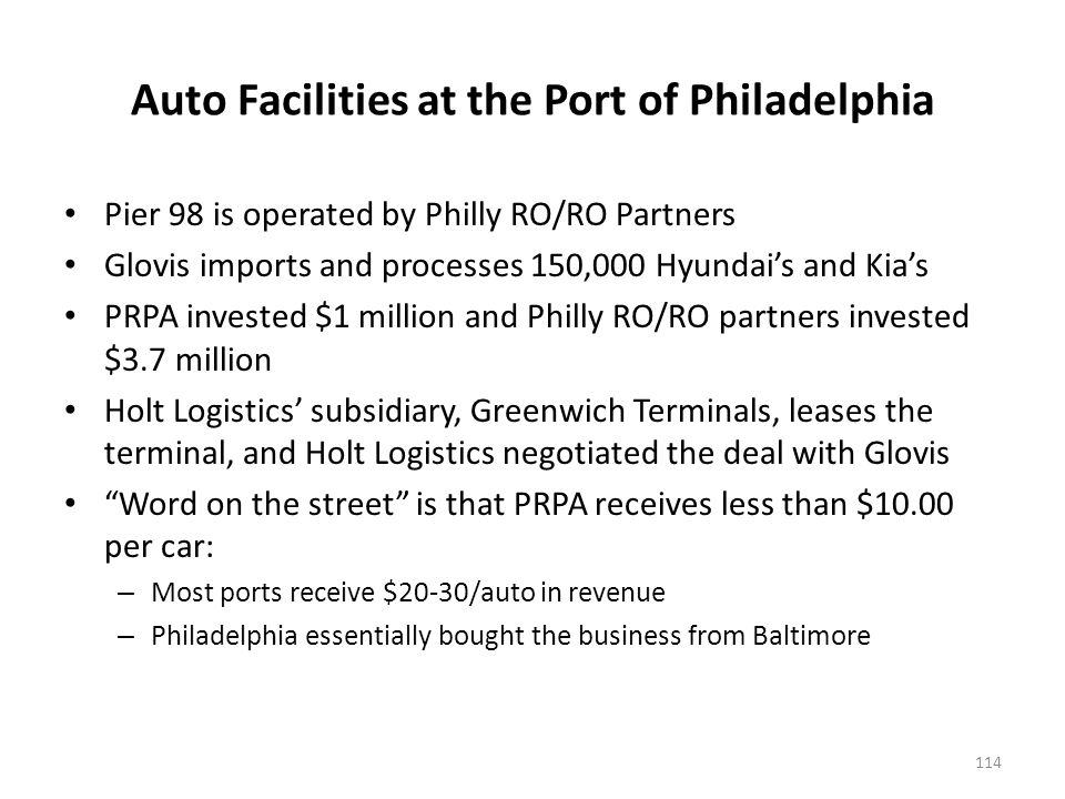 South Jersey Port Corporation – Paulsboro Site offers a potential for auto import terminal development
