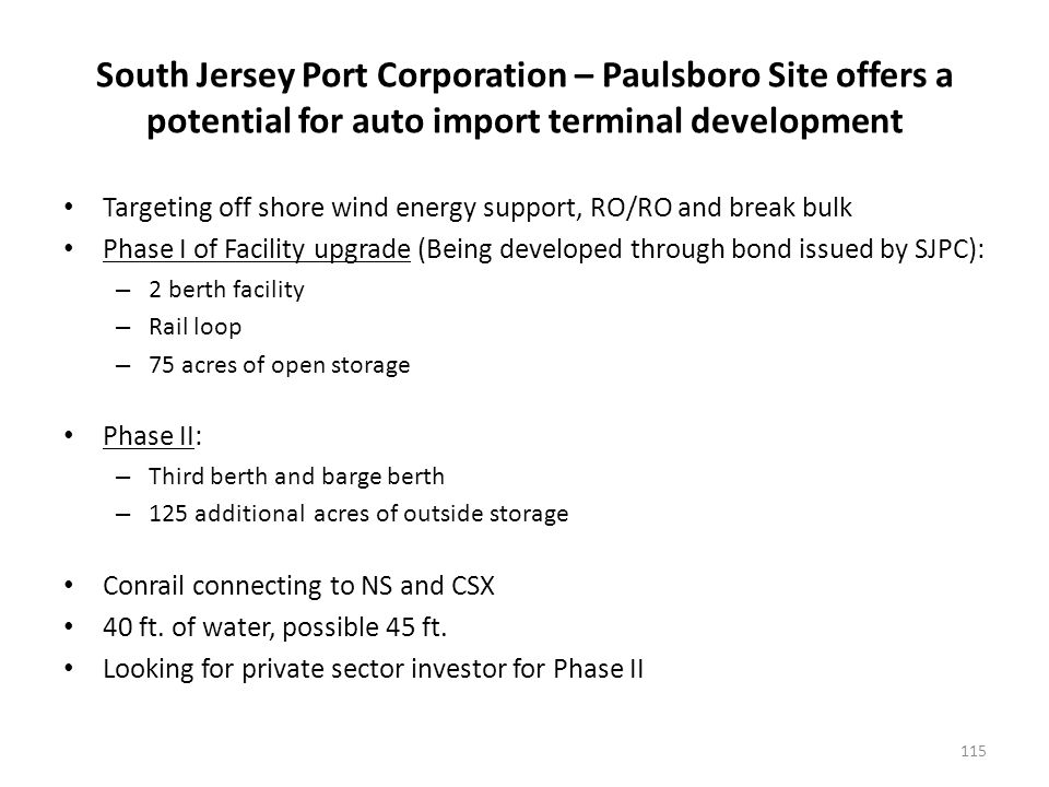 Auto facilities at the Rhode Island Ports