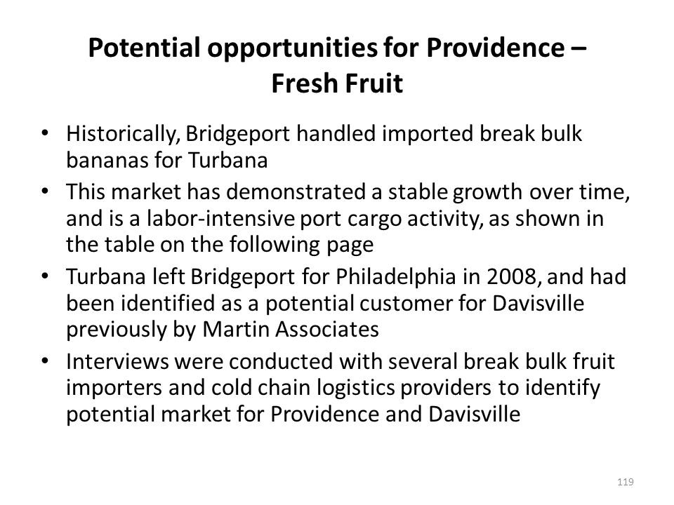 Wilmington and Philadelphia dominate the fresh fruit market