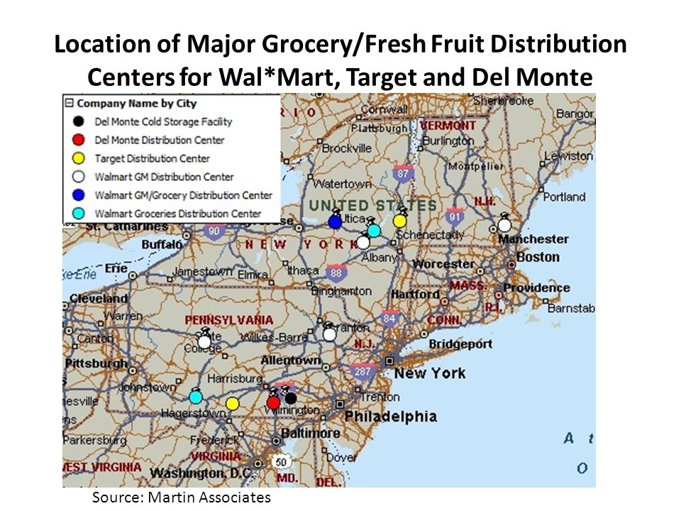 Market Potential for the Rhode Island Ports to Serve Key Grocery Store Distribution Centers
