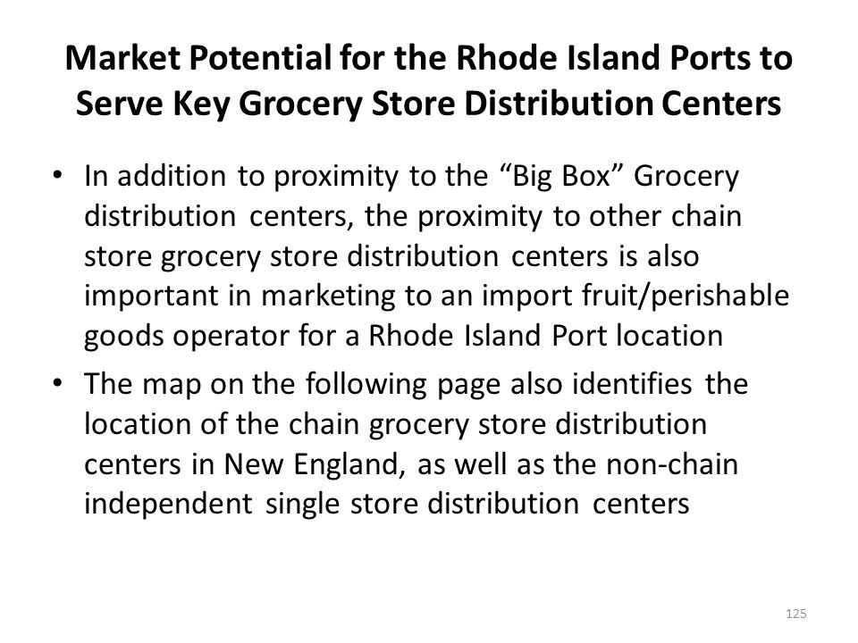 Location of New England Grocery Store Distribution Center Locations